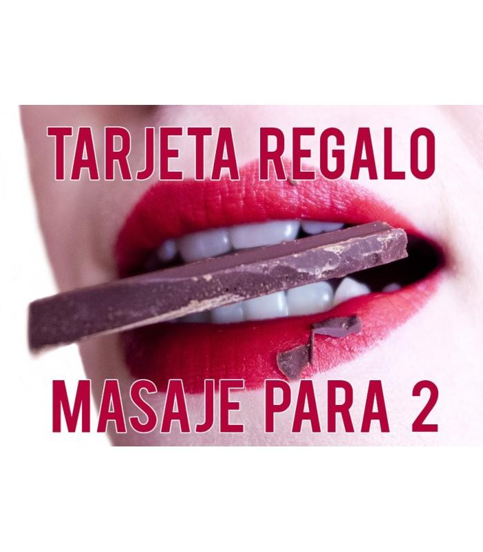 TARJETA REGALO MASAJE CON CHOCOLATE - PARA DOS PERSONAS