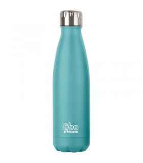 BOTELLA DE AGUA REUTILIZABLE · ACERO INOXIDABLE · CON FUNDA NEOPRENO · BBO IRISANA · COLOR MINT · 500 ML