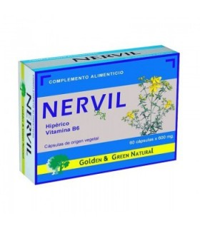 NERVIL · GOLDEN GREEN NATURAL · 60 CÁPSULAS