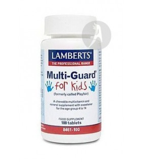 MULTIGUARD® FOR KIDS · LAMBERTS · 100 TABLETAS MASTICABLES