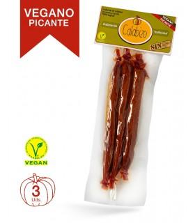 Chorizo Gallego de CALABAZA VEGANO PICANTE · Calabizo · 3 Unidades