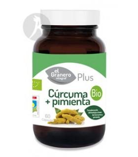 Extracto de Cúrcuma + Pimienta · El Granero Integral · 60 Cápsulas