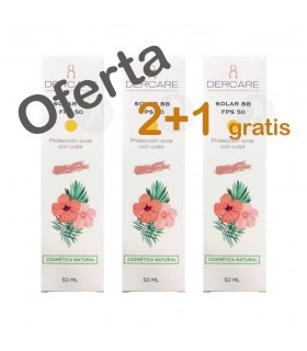 Protector Solar con Color BB Cream FPS 50 Dercare · Higifar · 50 Ml · PROMO 2+1 de Regalo