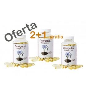 Omegalin Omega 3-6-9 · Higifar · 100 Perlas · PROMO 2+1 de Regalo
