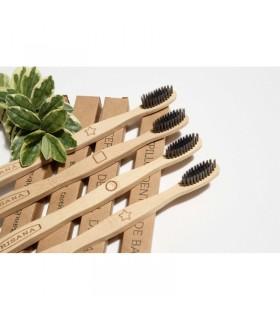 Cepillo Dental de Bambú · Irisana · 4 Unidades