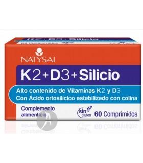 K2 + D3 + Silicio · Natysal · 60 Comprimidos
