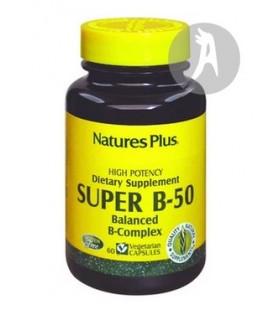 Super B-50 · Natures Plus · 60 Cápsulas