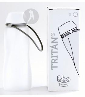 Botella de Agua Reutilizable de Tritán Blanca · BBO Irisana · 500 Ml