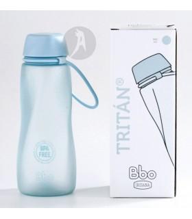 Botella de Agua Reutilizable de Tritán Azul · BBO Irisana · 500 Ml