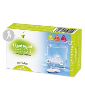 Llantediet Respir Efervescente · Novadiet · 20 Comprimidos