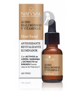 Elixir Facial con Ácido Hialurónico y Vitamina C · Natysal · 15 Ml