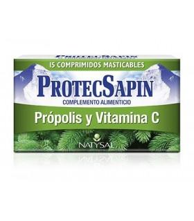 ProtecSapin Própolis y Vitamina C · Natysal · 15 Comprimidos Masticables