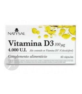 Vitamina D3 · Natysal · 60 Cápsulas