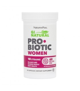 Gi Natural Probiotic Women · Natures Plus · 30 Cápsulas