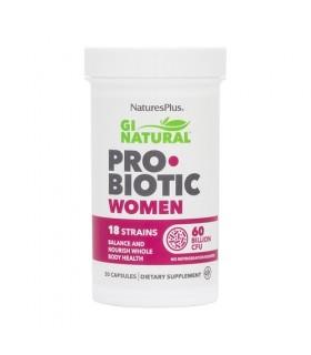 Gi Natural Probiotic Women · Natures Plus · 30 Cápsulas