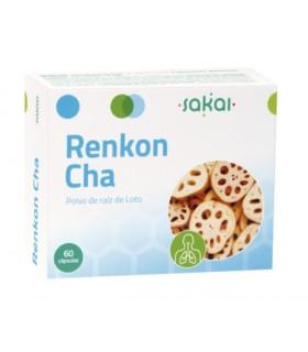 Renkon-Cha ( Polvo de Raíz de Loto) . Sakai . 60 Cápsulas