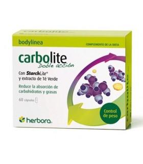 Carbolite Doble Acción . Herbora . 60 Cápsulas