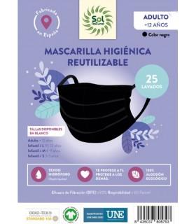 Mascarilla Higiénica Reutilizable . Sol Natural . 1 Unidad