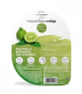 Mascarilla que Relaja Bergamota + Vitamina C · Herbora · 1 Unidad