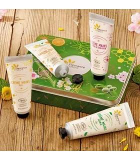 Set Caja Verde De Cremas De Manos Ecológicas · Fleurance Nature · 4 Tubos de 30 Ml