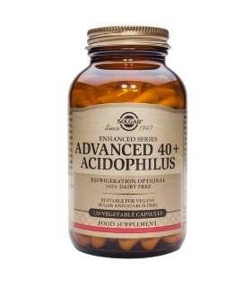 PROBIOTICOS ACIDOPHILUS AVANZADO 40+ SOLGAR 60 CAPSULAS VEGETALES