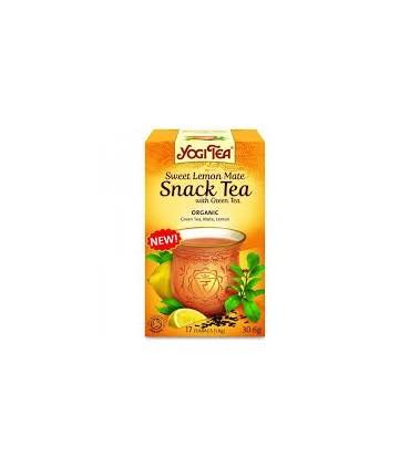 SNACK TEA LIMÓN MATE CON TE VERDE YOGI TEA 17 BOLSITAS