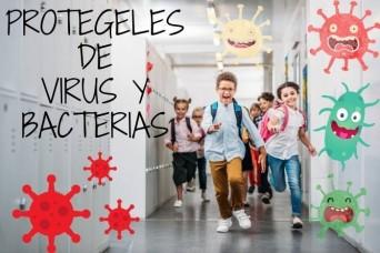 Vuelta al cole. Protege a los peques de virus y bacterias.